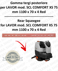 SCL COMFORT XS 75 Squeegee rubber Scrubber dryer back for LAVOR PRO