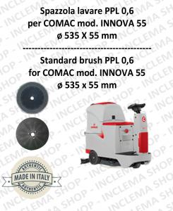 INNOVA 55 Standard Brosse  in PPL 0,60 Dimensions ø 535 X 55 pioli pour autolaveuses COMAC