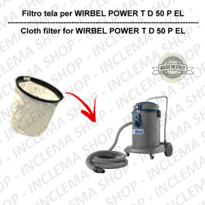 POWER T D 50 P EL Canvas Filter for vacuum cleaner WIRBEL