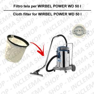 POWER WD 50 I TEXTILFILTER für staubsauger WIRBEL