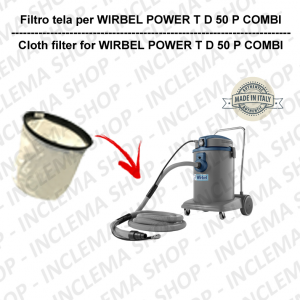 POWER T D 50 P COMBI Canvas Filter for vacuum cleaner WIRBEL