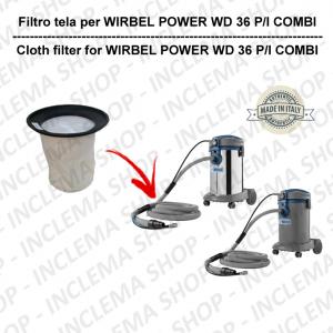 POWER T D 36 P/ I COMBI Filtre Toile pour aspirateur WIRBEL