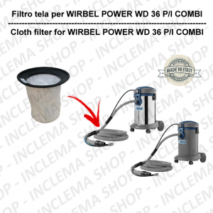 POWER T D 36 P/ I COMBI Canvas Filter for vacuum cleaner WIRBEL