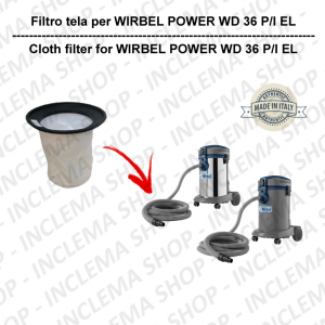 POWER WD 36 P/ I EL TEXTILFILTER für staubsauger WIRBEL