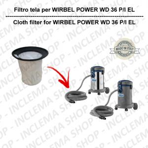 POWER T D 36 P/ I EL Filtre Toile pour aspirateur WIRBEL