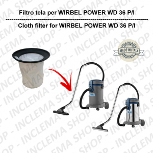 POWER T D 36 P/I Canvas Filter for vacuum cleaner WIRBEL