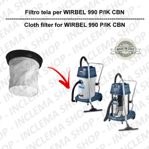 990 P/IK CBN Canvas Filter for vacuum cleaner WIRBEL