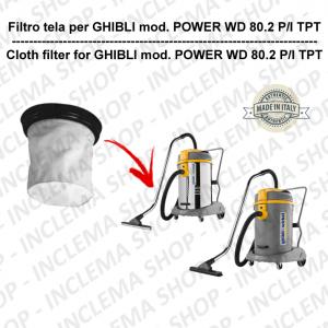 POWER WD 80.2 P/I TPT Filtre Toile pour aspirateur GHIBLI