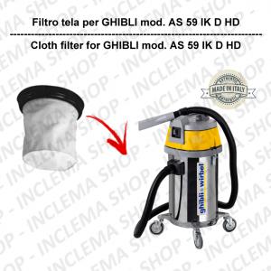 AS 59 IK D HD  Filtre Toile pour aspirateur GHIBLI