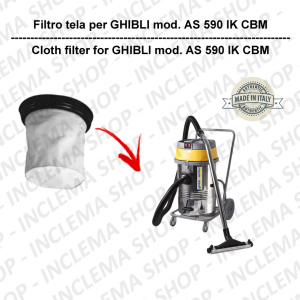 AS 590 IK CBM TEXTILFILTER für staubsauger GHIBLI