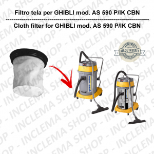 AS 590 P/IK CBN  Filtre Toile pour aspirateur GHIBLI