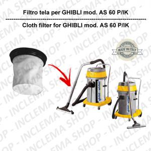 AS 60 P/IK Filtre Toile pour aspirateur GHIBLI
