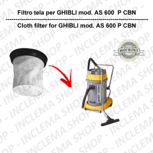 AS 600 P CBN Canvas Filter for vacuum cleaner GHIBLI