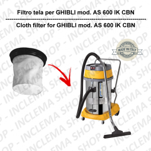 AS 600 IK CBN Canvas Filter for vacuum cleaner GHIBLI