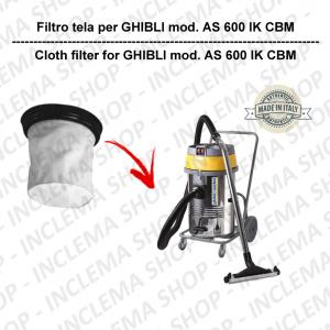 AS 600 IK CBM Filtre Toile pour aspirateur GHIBLI
