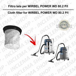POWER WD 80.2 P/I Filtre Toile pour aspirateur WIRBEL