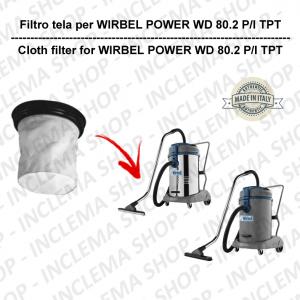 POWER WD 80.2 P/I TPT Filtre Toile pour aspirateur WIRBEL