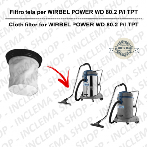 POWER WD 80.2 P/I TPT Canvas Filter for vacuum cleaner WIRBEL