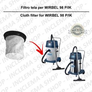 98 P/IK Filtre Toile pour aspirateur WIRBEL