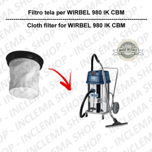 980 P/IK CBN Filtre Toile pour aspirateur WIRBEL