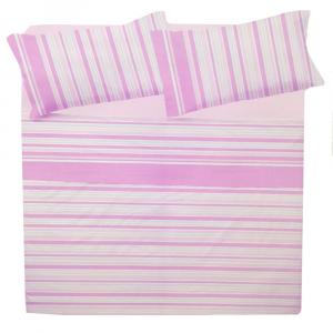 Set lenzuola matrimoniale 2 piazze in puro cotone CLOE' rosa