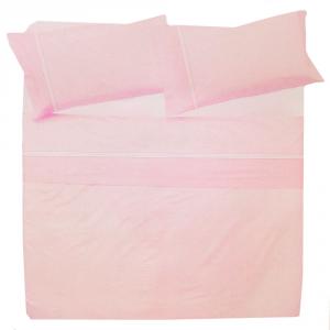 Set lenzuola singole 1 piazza in puro cotone MELBOURNE rosa