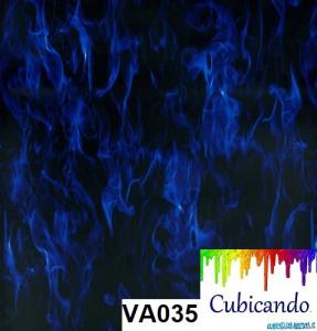 Pellicola per cubicatura Fiamme Blu