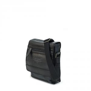 Avirex - Wildfire - Borsa tracolla in pelle con patta nero militare cod. WLD21967