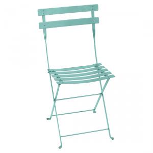 Fermob sedia pieghevole Bistro - Metal - color Blu Fiordo