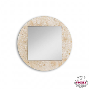 Specchiera Round Fossil by Stones