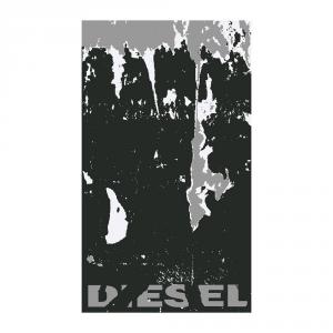 Telo da mare in spugna 95x180 cm DIESEL Wall nero
