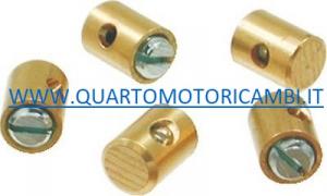 MORSETTO SERRAFILO CAVO GAS ACCELLERATORE CON DADO DIAMETRO 5mm X LUNGEZZA 6mm (50PZ)