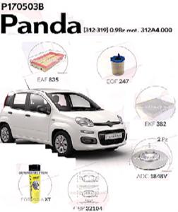 Super Kit filtri Fiat Panda 312