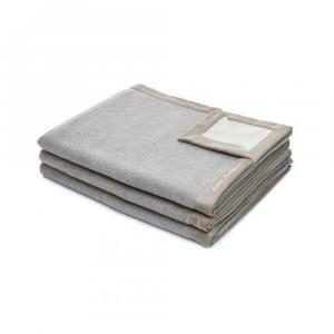 Coperta 220x250 cm in lana merino MARZOTTO-LANEROSSI Fiordiloto grigio