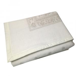 Coperta in pura lana 210x250 cm MARZOTTO-LANEROSSI Provenzale bianco