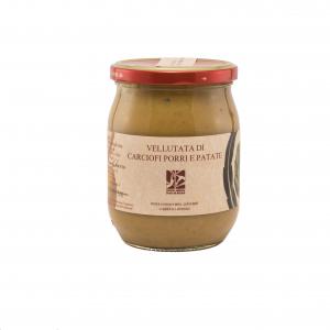 Vellutata di carciofi, porri e patate - 500gr