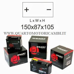 ASAKI Batteria YTX4L-BS / CBTX4L-BS con acido a corredo