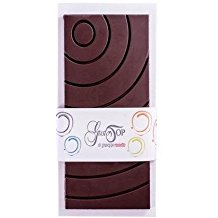 Tavoletta di cioccolato fondente al 60% senza zucchero, confezione da gr 100
