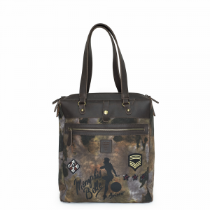 Avirex - 172005 - Borsa da shopping donna canvas marrone cod. 01