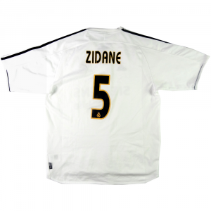 2003-04 Real Madrid  Maglia #5 Zidane Home L (Top)