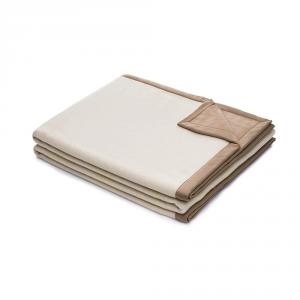 Termocoperta double-face 220x270 cm MARZOTTO-LANEROSSI bianco e marrone