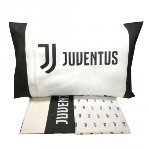 Set lenzuola singolo 1 piazza  JUVENTUS bianco e nero Official Product