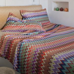 Set lenzuola matrimoniale 2 piazze Missoni Home VALENTINO 100 zigzag design