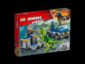 LEGO JUNIORS CAMION PER IL SOCCORSO DI VELOCIRAPTOR - JURASSIC PARK 10757