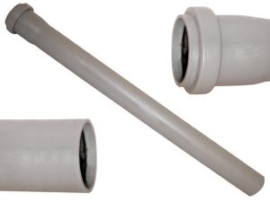 Tubo polipropilene grigio ∅ 90 bicchiere 1 cm 200