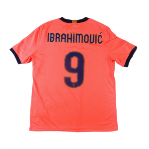 2009-10 Barcelona Maglia Ibrahimovic #9 Away L (Top)