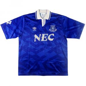1991-93 Everton  Maglia Home L