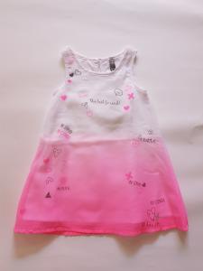 Vestito fluo rosa da bambina 2-7anni