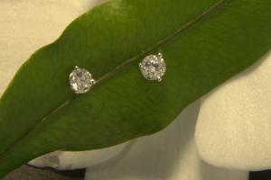 Orecchini  Punto Luce con Diamante