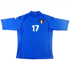 2000-01 Italia Maglia #17 Match Issue Home XL